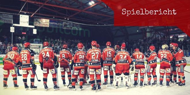 Eispiraten Crimmitschau – SC Bietigheim Steelers 3:4 n.V. (1:0, 1:1, 1:2)